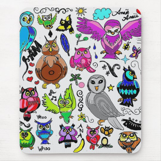 Owls Mouse Mat