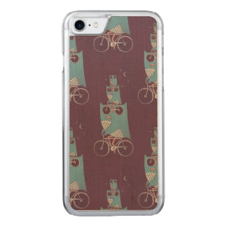 Owls on a Bicycle Carved iPhone 8/7 Case