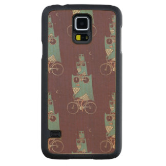 Owls on a Bicycle Carved® Maple Galaxy S5 Case