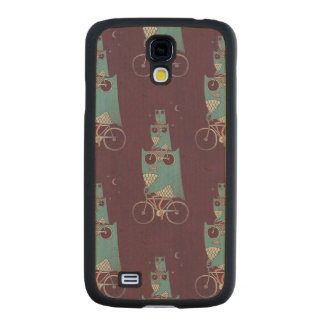 Owls on a Bicycle Maple Galaxy S4 Slim Case