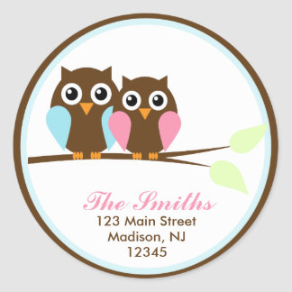 Owls on a Branch Address Labels