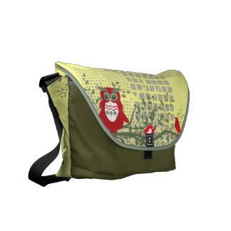 owls on branch rickshaw bag commuter bags