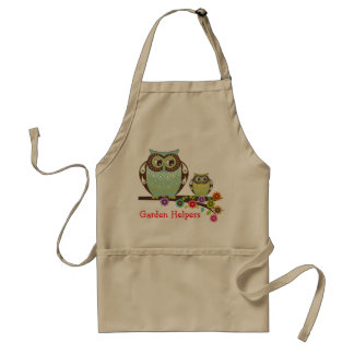 Owls On Tree Branch Apron