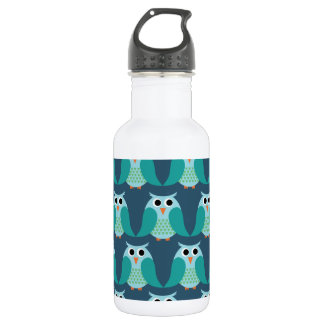 Owls, Owls, Owls! - Blue 532 Ml Water Bottle