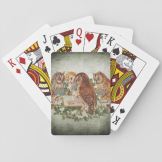 Owls Playing Poker Playing Cards
