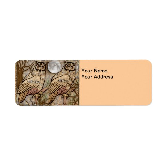 Owls Return Address Label