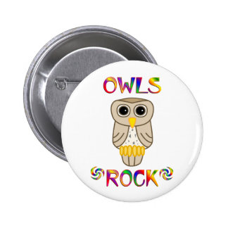 Owls Rock Pinback Buttons