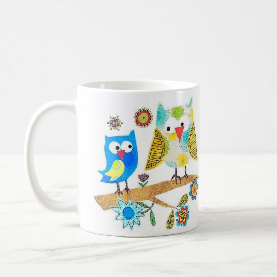 Owls Sitting On A Branch ~ Coffee/Tea Mug