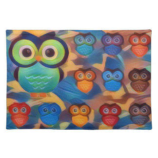 Owls So Colorful Placemat