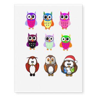owls TEMPORARY TATTOO'S