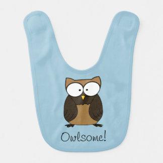 Owlsome owl bib