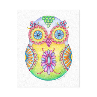 Owlushka Blossom Canvas Stretched Canvas Prints