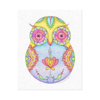 Owlushka Rosy Canvas Stretched Canvas Print