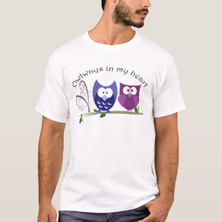 Owlways in my heart, cute Owls romantic gifts T-Shirt
