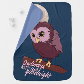 Owlways kiss me goodnight cute little owl baby blanket