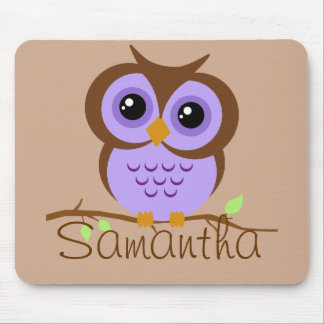 Owly Purple Personalized Mousepad
