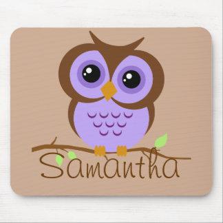 Owly Purple Personalized Mousepad