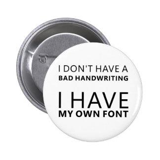 Own Font 6 Cm Round Badge