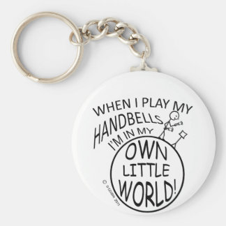 Own Little World Handbells Basic Round Button Key Ring
