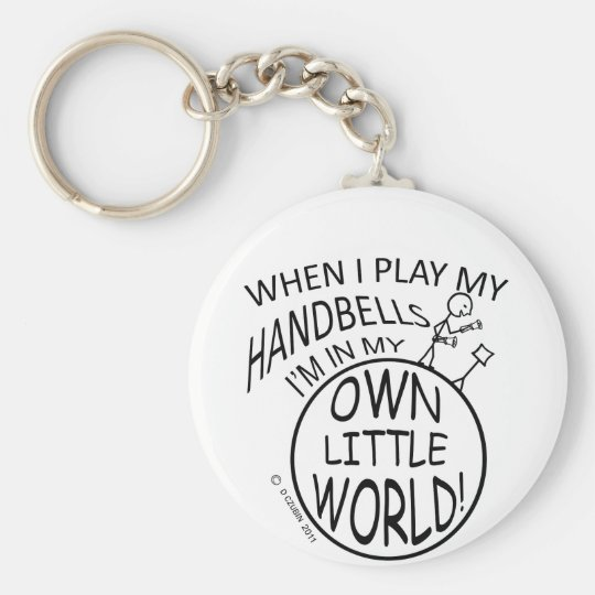 Own Little World Handbells Key Ring