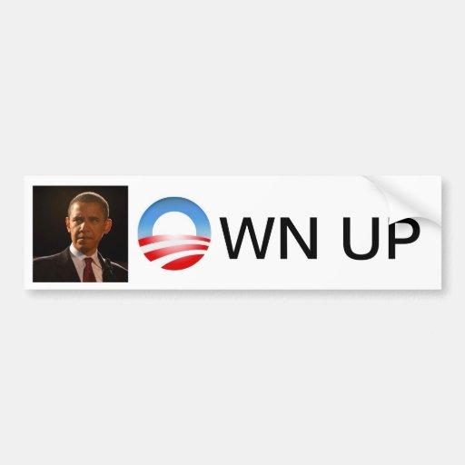 Own Up Bumper Sticker