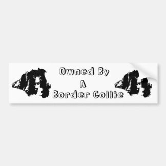 Owned By A Border Collie Funny Bumper Sticker Car Bumper Sticker