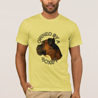 Owned by a Boxer mens t-shirt