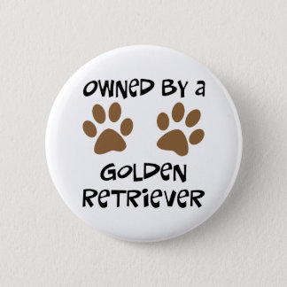 Owned By A Golden Retriever 6 Cm Round Badge