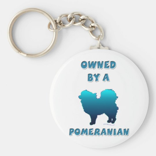 Owned by a Pomeranian Basic Round Button Key Ring