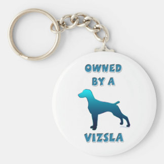 Owned by a Vizsla Basic Round Button Key Ring