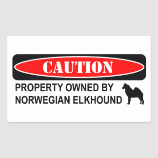 Owned by an Elkhound Rectangular Sticker