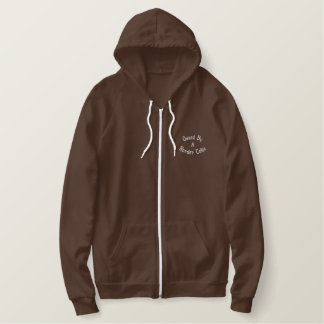 Owned By Border Collie Embroidered Zip Hoodie