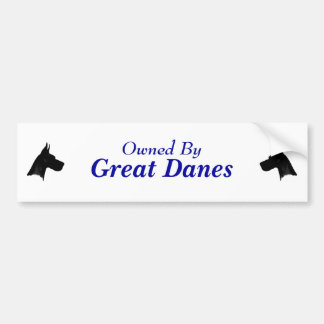Owned By Great Danes Bumper Sticker