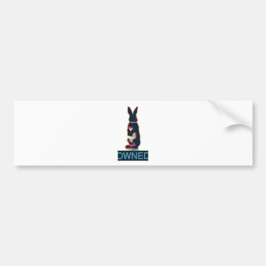 owned rabbit bumper sticker