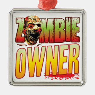 Owner Zombie Head Christmas Tree Ornament
