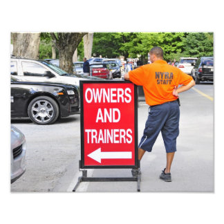 Owner's and Trainer's Parking lot at Saratoga Photo Print