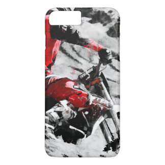 Owning The Mountain  -  Motocross Dirt-Bike Racer iPhone 7 Plus Case