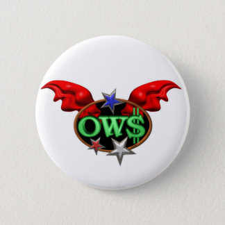OWS Operation Wall Street Join the movement 6 Cm Round Badge