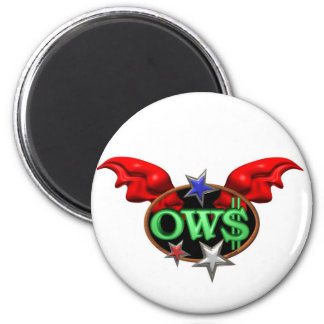 OWS Operation Wall Street Join the movement 6 Cm Round Magnet