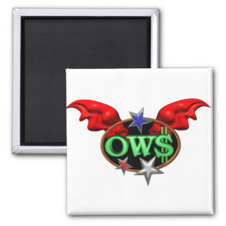 OWS Operation Wall Street Join the movement Square Magnet