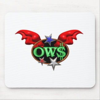 OWS Operation Wall Street Join the movement Mouse Pads