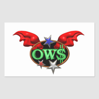 OWS Operation Wall Street Join the movement Rectangular Sticker