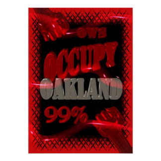 OWS protest OCCUPY Oakland wall street 99% strong Poster