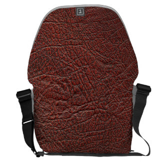 Ox Blood Leather Fine Grain Burnt Red Brown bag Courier Bags