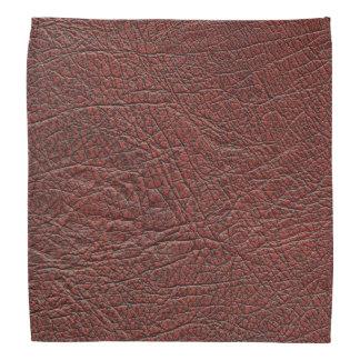 Ox Blood Leather Fine Grain Burnt Red Brown Bandana
