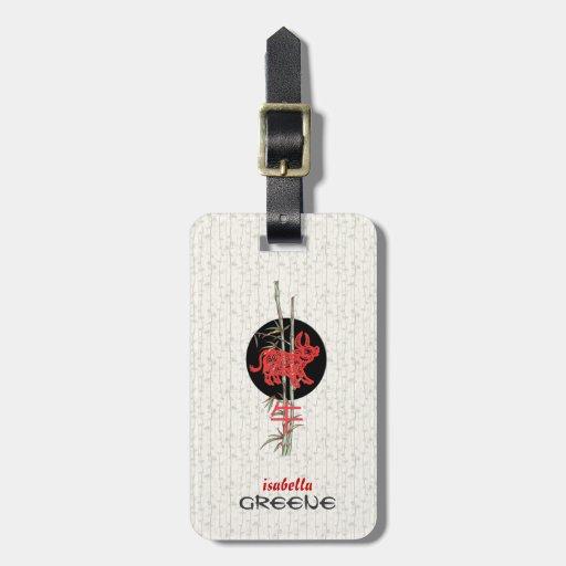 Ox (chinese zodiac) luggage tag