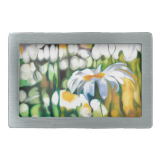 Ox-eye Daisy Rectangular Belt Buckles