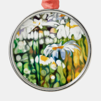 Ox-eye Daisy Silver-Colored Round Decoration