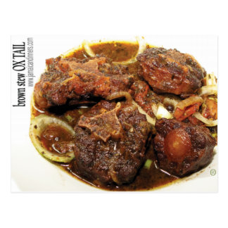 Ox tail Brown Stew Postcard