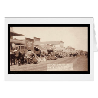 Ox Teams at Sturgis Dakota Territory SD 1887 Greeting Card